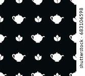 herbal tea. seamless vector...   Shutterstock .eps vector #683106598