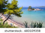 beautiful view on small island... | Shutterstock . vector #683109358