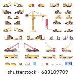 vector low poly construction... | Shutterstock .eps vector #683109709