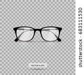 eyeglasses. vector illustration.... | Shutterstock .eps vector #683111530