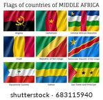 middle africa countries flag... | Shutterstock .eps vector #683115940