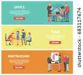 work in office  team formation... | Shutterstock .eps vector #683117674