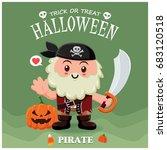 vintage halloween poster design ... | Shutterstock .eps vector #683120518