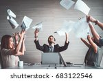 group of business people...   Shutterstock . vector #683122546
