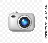 camera emoticon on transparent... | Shutterstock .eps vector #683123533
