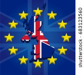 brexit isolated 3d great... | Shutterstock .eps vector #683123560