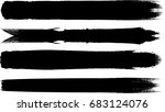 grunge paint stripe . vector... | Shutterstock .eps vector #683124076