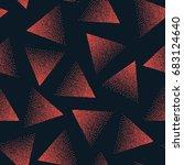 vector abstract stippled... | Shutterstock .eps vector #683124640