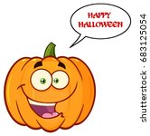 orange pumpkin vegetables... | Shutterstock .eps vector #683125054