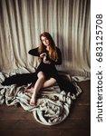 woman in black | Shutterstock . vector #683125708