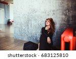 woman in black | Shutterstock . vector #683125810