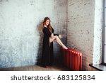 woman in black | Shutterstock . vector #683125834