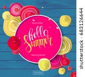 summer sale background with... | Shutterstock . vector #683126644