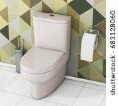 White Toilet Bowl With Toilet...