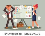 stressed business people... | Shutterstock .eps vector #683129173