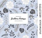 seamless pattern design on... | Shutterstock .eps vector #683129593