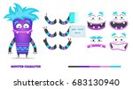 monster character animation and ... | Shutterstock .eps vector #683130940