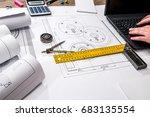 mechanical engineering of parts ... | Shutterstock . vector #683135554