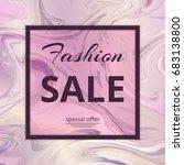 template special offer sale.... | Shutterstock . vector #683138800