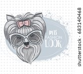 pets fashion look  elegant dog... | Shutterstock . vector #683140468