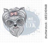 pets fashion look  elegant dog... | Shutterstock . vector #683140468