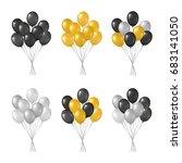 bunches of black  golden ...   Shutterstock .eps vector #683141050