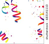 colorful celebration background ... | Shutterstock .eps vector #683141110