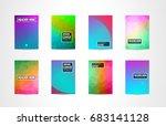 a4 brochure cover mininal... | Shutterstock .eps vector #683141128