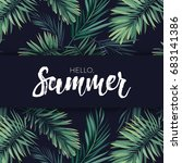 summer tropical vector design... | Shutterstock .eps vector #683141386