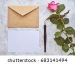 vintage mockup. blank paper and ...   Shutterstock . vector #683141494