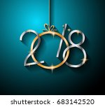 2018 happy new year background... | Shutterstock .eps vector #683142520