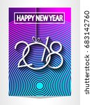2018 happy new year background... | Shutterstock .eps vector #683142760