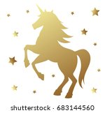 unicorn silhouette illustration.... | Shutterstock . vector #683144560
