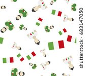 italian seamless pattern with... | Shutterstock .eps vector #683147050