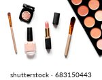 decorative cosmetics nude on... | Shutterstock . vector #683150443