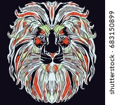 lion pop art | Shutterstock .eps vector #683150899