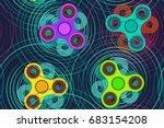 fidget spinner toy vector...   Shutterstock .eps vector #683154208