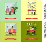 set of veterinary clinic... | Shutterstock . vector #683155486