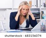 upset mature businesswoman with ...   Shutterstock . vector #683156074