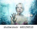 surreal portrait of a young... | Shutterstock . vector #683158510