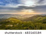 majestic sunset in the... | Shutterstock . vector #683160184