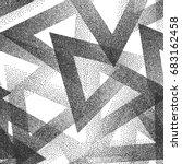 vector abstract stippled weird... | Shutterstock .eps vector #683162458