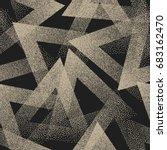 vector abstract stippled weird... | Shutterstock .eps vector #683162470