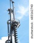 big drilling machine   Shutterstock . vector #683162740