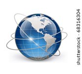 icon of earth on a white... | Shutterstock .eps vector #68316304
