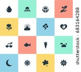 vector illustration set of... | Shutterstock .eps vector #683164288