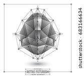 vector retro futurism abstract... | Shutterstock .eps vector #683166634