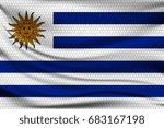 national flag of uruguay on... | Shutterstock .eps vector #683167198