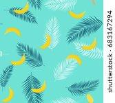 beautifil summer seamless...   Shutterstock .eps vector #683167294