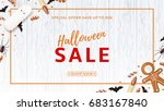 halloween sale web banner with... | Shutterstock .eps vector #683167840